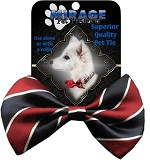 Stripes Classic Pet Bow Tie Collar Accessory with Velcro