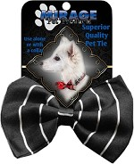 Pinstripes Pet Bow Tie Collar Accessory with Velcro