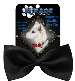 Plain Black Pet Bow Tie Collar Accessory with Velcro