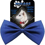 Plain Blue Pet Bow Tie Collar Accessory with Velcro