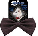Plain Brown Pet Bow Tie Collar Accessory with Velcro