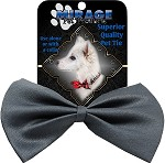 Plain Grey Pet Bow Tie Collar Accessory with Velcro