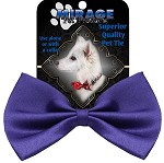 Plain Purple Pet Bow Tie Collar Accessory with Velcro