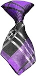 Dog Neck Tie Plaid Purple