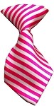 Dog Neck Tie Striped Pink