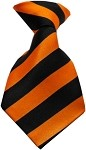 Dog Neck Tie Striped Orange