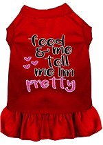 Tell me I'm Pretty Screen Print Dog Dress Red Med (12)
