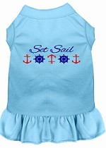 Set Sail Embroidered Dog Dress Baby Blue Sm (10)
