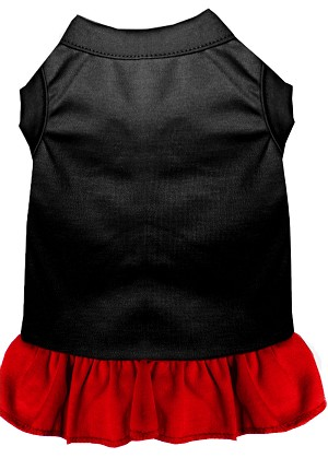 Plain Dress Black with Red XL (16)