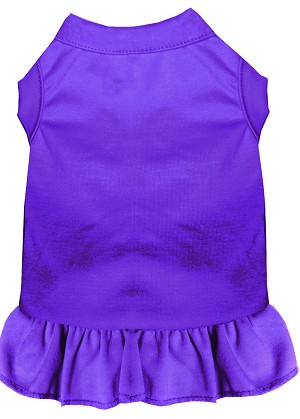 Plain Pet Dress Purple 4X