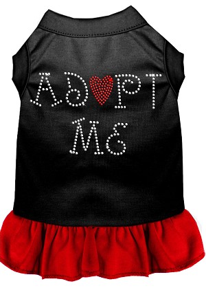 Adopt Me Rhinestone Dresses Black with Red Lg (14)
