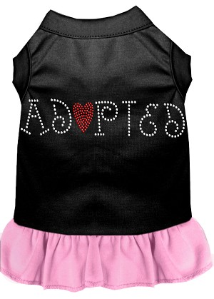 Adopted Rhinestone Dresses Black with Light Pink XXXL (20)