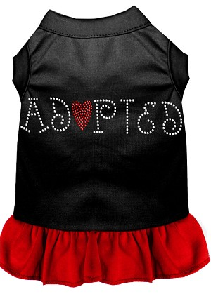 Adopted Rhinestone Dresses Black with Red XXXL (20)