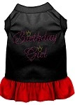 Birthday Girl Rhinestone Dresses Black with Red XS