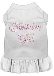 Birthday Girl Rhinestone Dress White XS