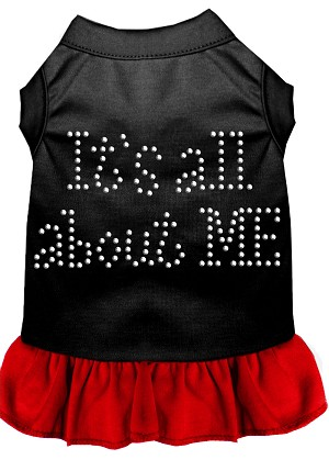 Rhinestone All About me Dress Black with Red XXXL (20)