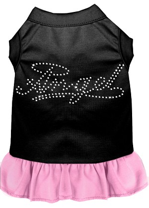 Rhinestone Angel Dress Black with Light Pink XS (8)