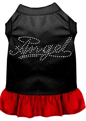 Rhinestone Angel Dress  Black with Red XL (16)