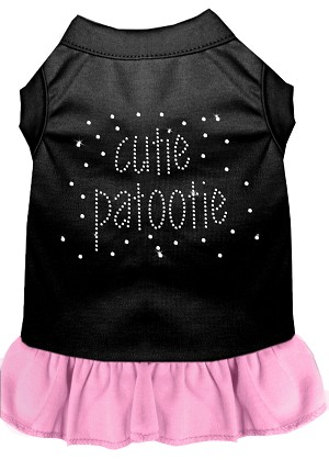 Rhinestone Cutie Patootie Dress Black with Light Pink XXL (18)