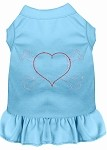 Rhinestone Heart and crossbones Dress Baby Blue XS (8)