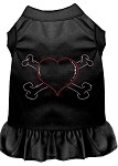 Rhinestone Heart and crossbones Dress Black XS (8)