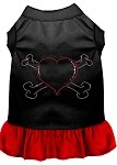 Rhinestone Heart and crossbones Dress Black with Red XS (8)