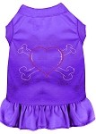 Rhinestone Heart and crossbones Dress Purple XS (8)