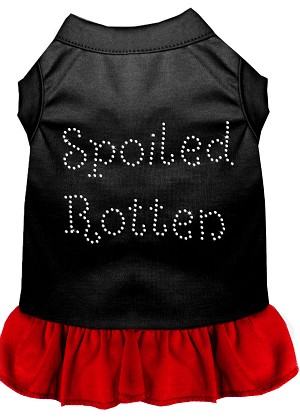 Spoiled Rotten Rhinestone Dress Black with Red XXL (18)