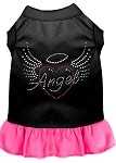 Angel Heart Rhinestone Dress Black with Bright Pink XS (8)
