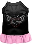 Angel Heart Rhinestone Dress Black with Light Pink Med (12)