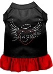 Angel Heart Rhinestone Dress Black with Red XS (8)
