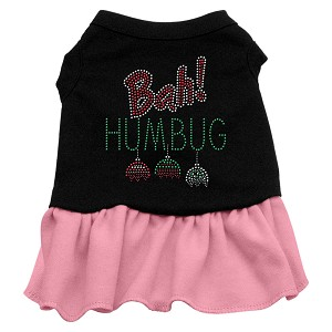 Bah Humbug Rhinestone Dress Black with Light Pink XL (16)