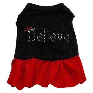 Believe Rhinestone Dress Black with Red XXL (18)