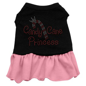 Candy Cane Princess Rhinestone Dress Black with Light Pink Med (12)