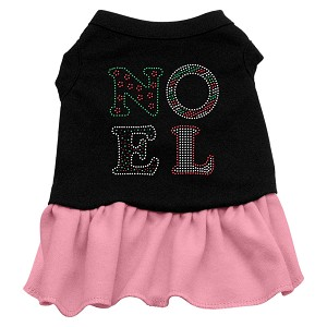 Noel Rhinestone Dress Black with Light Pink XS (8)
