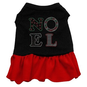 Noel Rhinestone Dress Black with Red Sm (10)