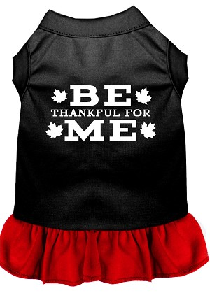 Be Thankful for Me Screen Print Dress Black with Red Lg (14)