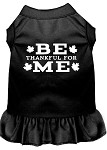 Be Thankful for Me Screen Print Dress Black XS (8)