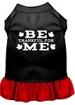 Be Thankful for Me Screen Print Dress Black with Red XS (8)