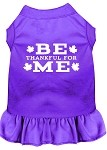 Be Thankful for Me Screen Print Dress Purple XS (8)