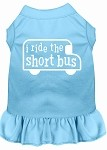 I ride the short bus Screen Print Dress Baby Blue XS (8)