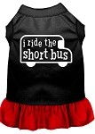 I ride the short bus Screen Print Dress Black with Red XS (8)