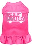 I ride the short bus Screen Print Dress Bright Pink XS (8)