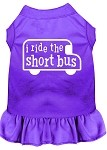 I ride the short bus Screen Print Dress Purple Med (12)