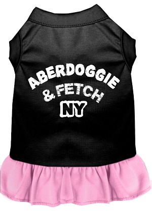 Aberdoggie NY Dresses Black with Light Pink XXL (18)