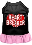 Heart Breaker Dresses Black with Light Pink XL (16)