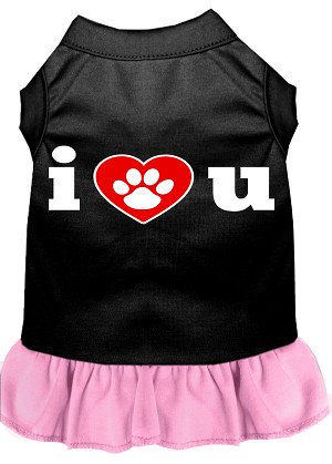 I Heart You Dresses Black with Light Pink Sm (10)