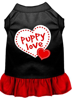 Puppy Love Dresses Black with Red XXXL (20)