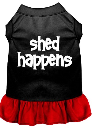Shed Happens Screen Print Dress Black with Red XXXL (20)