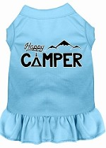 Happy Camper Screen Print Dog Dress Baby Blue XS (8)